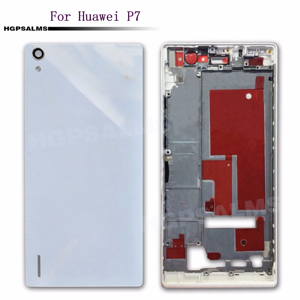 For Huawei P7 Battery Back Case Housing Back Battery Cover Rear Housing Case With front Frame+Camera Len|Mobile Phone Housings & Frames| |  - title=