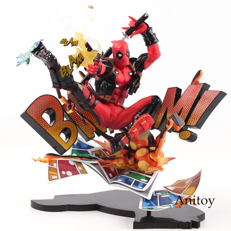 Deadpool Action Figure Mavel Toy Breaking The Fourth Wall PVC Deadpool Figure Collectible Model Toys Marvel Figures 20cm marvel deadpool breaking the fourth wall complete figure model toy 20cm