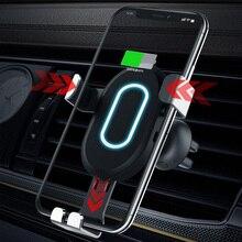 אלחוטי מטען לרכב טעינה מהירה 3.0 רכב מהיר מטען עבור 8 8 בתוספת x טלפון נייד עבור סמסונג S9 S8 מטען לרכב מתאם