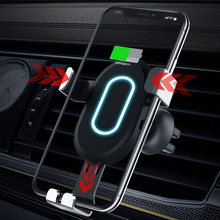 Wireless Car Charger Quick Charge 3.0 For 8 8 plus x xs xr Mobile Phone For Samsung Galaxy S9 S8 Car Fast Charger Adapter(China)