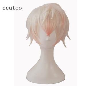 "Image 5 - ccutoo Mystic Messenger 707 saeran 12"" Orange Short Fluffy Layered Synthetic Hair ZEN Yoosung Heat Resistance Cosplay Full Wigs"