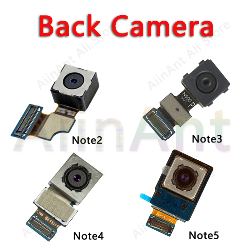 Original Back Camera For Samsung Galaxy Note 2 3 4 5 N7100 N900 N9005 N910F N910C N920 Main Big Rear Camera Flex Cable