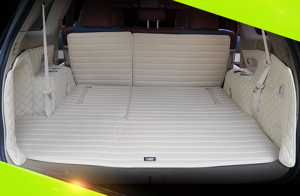 full covered Customized car trunk mats for 2015-2017year Toyota Highlander 7seats waterproof durable carpets for Highlander