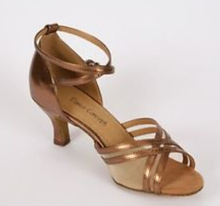 Wholesale Ladies Girls Copper Leather  Ballroom Latin Samba Salsa Ceroc Tango Dance Shoes All Size