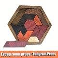 Реквизит для комнаты побега Tangram реквизит (11 шт. деревянный) Escape комната игра для контроллера 60 кг EM замок