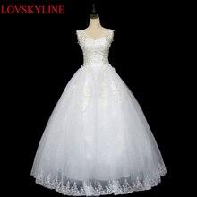 Doble-hombro Con Cuello En V vestido de novia de la princesa más el tamaño delgado 2017 de verano