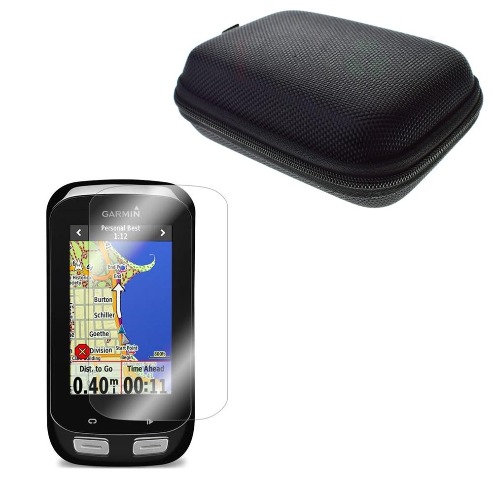 bilder für Clear LCD Screen Protector Film Haut + Schützen Fall Tragbare Tasche für Straße/Berg Radfahren GPS Garmin Edge 1000