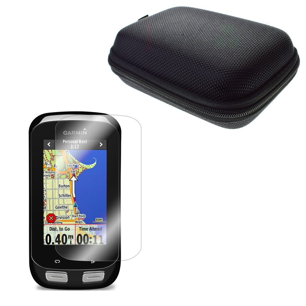 Цена за ЖК-дисплей Clear Защитная крышка пленка кожи + защита случае переносная сумка для дороги/Mountain Велоспорт GPS Garmin Edge 1000