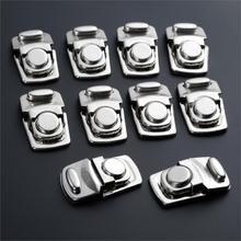 10Pcs Antique Silver Color Lock Metal Jewelry Chest Gift Box Suitcase Case Buckles Hasp Latch Catch Clasp Furniture Hardware 10pcs 43 21mm white duck mouth buckle vintage mini lock chest box gift box suitcase case buckles toggle hasp latch catch clasp