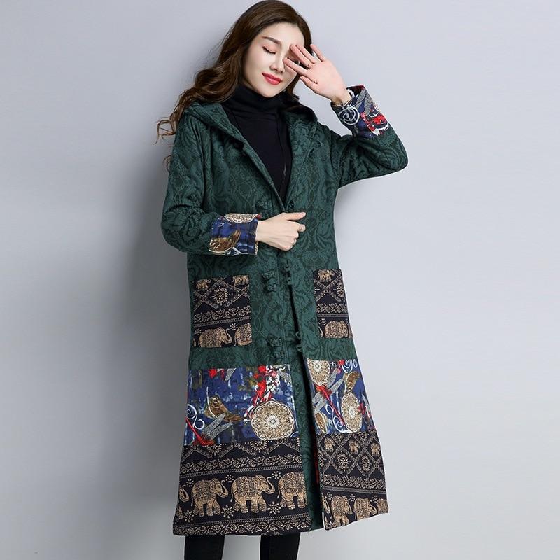L Parka D'hiver 2018 Femmes 2 1 Femme Ff1395 Vestes Chinois Style De Tendances Mode Manteau TBwxA7H