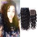 Brazilian Water Wave With Closure 4 Bundles Curly Human Hair Weave With Closure Brazilian Virgin Hair Water Wave With Closure