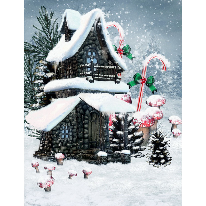 Customize vinyl cloth snow Xmas candy scenic photo studio backgrounds for portrait photography backdrops wallpaper S-2467 promoting 10ftx16ft scenic vinyl studio digital photography backdrops f 1450 backgrounds snow mountain for wedding shooting