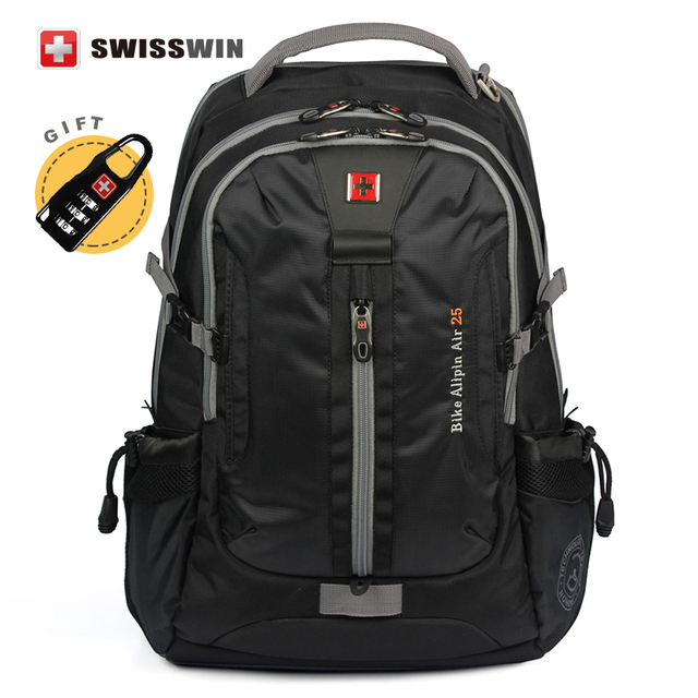 Swisswin Brand High quality Men's Daily Backpack with Laptop Sleeve and Music Function Large Capacity swissgear wenger Backpack