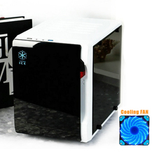 2017 New Desktop PC Case Transparent Side M-ATX ITX Mini Chassis Support Full Size Video Card DIY HTPC