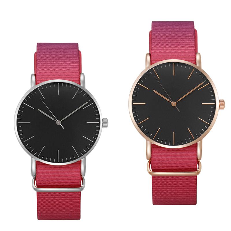 Nieuwe mode luxe merk vrouwen hand nylon nylon horloge waterdicht - Dameshorloges