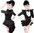 6 EXTRA LARGE Fashion Star Costume Female Singer DS Costume Dance Jazz Black White Color Block Formal Dress Tuxedo Costumes