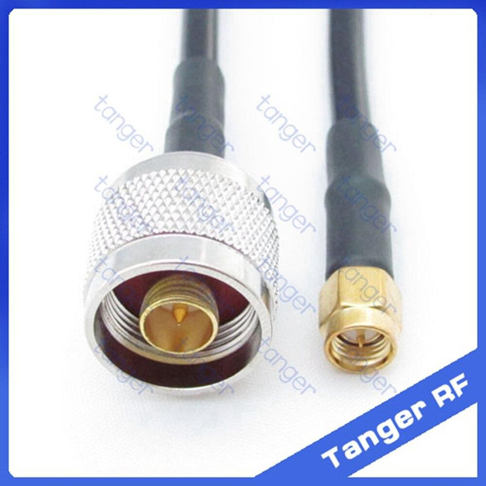 Gran oferta, conector macho Tanger N a SMA macho, RF RG58 Conector recto, Cable Coaxial Pigtail, 20 pulgadas, 50 cm, alta calidad Cable SMA de 10M, macho a antena hembra, Conector de extensión SMA RG58