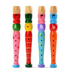 Детская игрушка для маленьких мальчиков и девочек Горячая Распродажа красочная деревянная труба Buglet Hooter Bugle музыкальная игрушка подарок для детей Образование