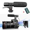 МИК-01 стерео Конденсаторный Микрофон для Canon EOS 1D IV 5D Mark II 5D2 7D 60D 600D 550D Rebel T3i T2i Поцелуй X4 X5 Pentax K7 K5 + CR2