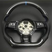 Углеродного волокна руль для FIT VW Golf 7 GTI гольф R MK7 Jetta Passat Polo GTI Scirocco 2014 2018 Замена