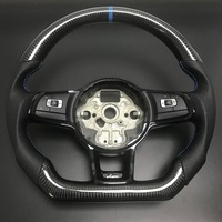 Carbon Fiber Steering Wheel For FIT VW Golf 7 GTI Golf R MK7 Jetta Passat Polo GTI Scirocco 2014 2018 Replacement