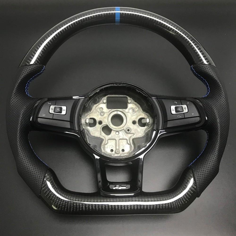 Fibra de carbono Volante Para FIT VW Golf GTI Golf R MK7 7 Jetta Passat Polo GTI Scirocco 2014- 2018 Substituição