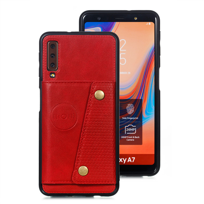 HTB1OUyOaR1D3KVjSZFyq6zuFpXal Wallet PU Leather Stand Silicone Phone Case For Samsung Galaxy S8 S9 S10 Plus Note 10 A6 A7 J4 J6 Plus 2018 Card Slot Flip Cover