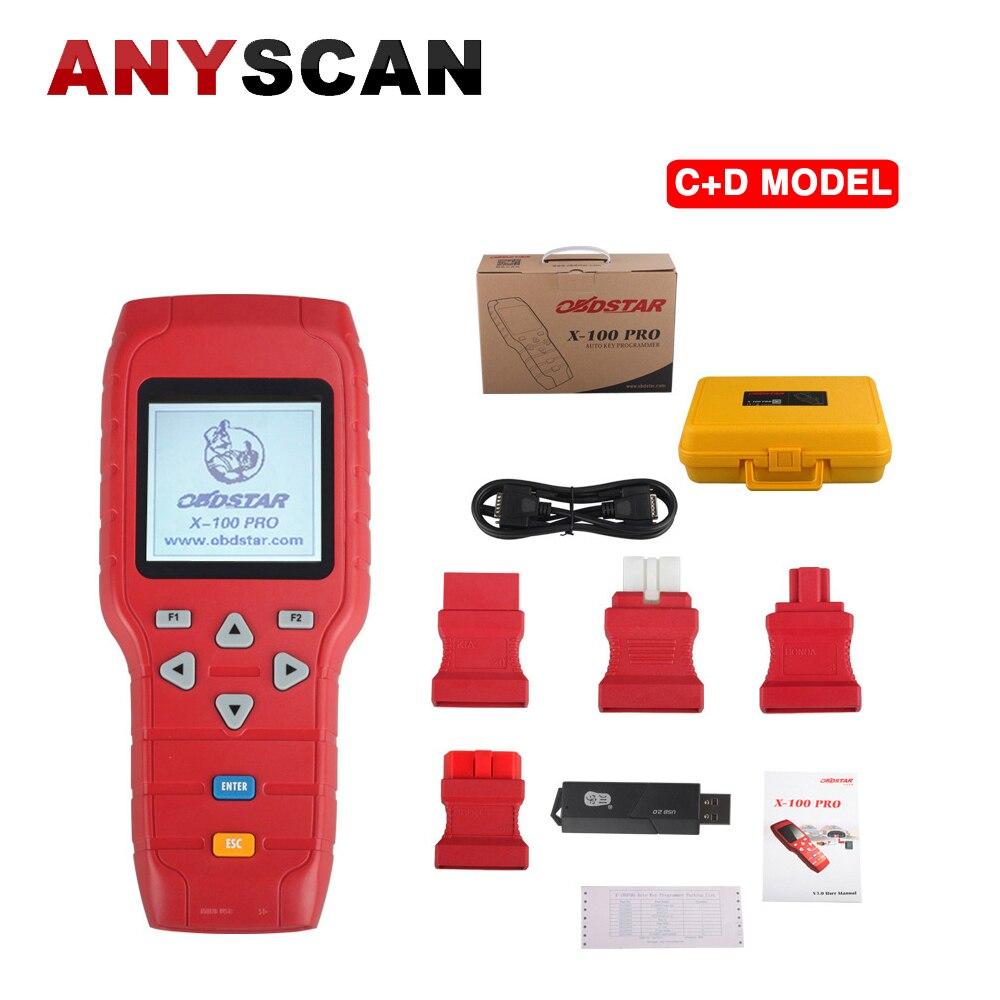 Лидер продаж оригинальный OBDSTAR X 100 PRO X100 PRO Авто ключевой программист (C + D) Тип для IMMO + одометр + программное обеспечение для бортовой системы