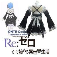 2016 Anime Re Zero Kara Hajimeru Isekai Seikatsu Cosplay Costumes Rem Maid Dress Ram Lovely Uniforms