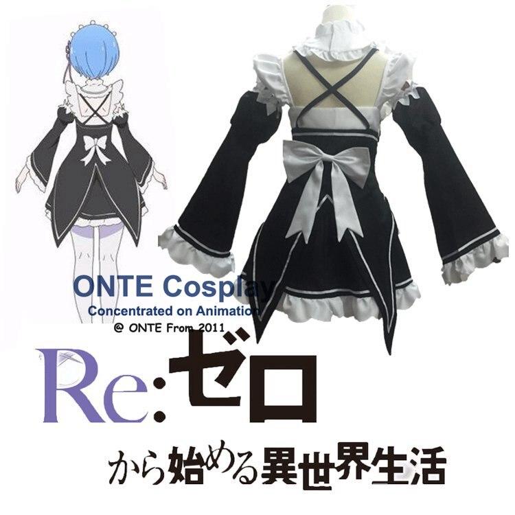 Здесь продается  2016 Anime Re:Zero kara Hajimeru Isekai Seikatsu Cosplay Costumes Rem Maid Dress Ram Lovely Uniforms Outfit for Halloween  Одежда и аксессуары