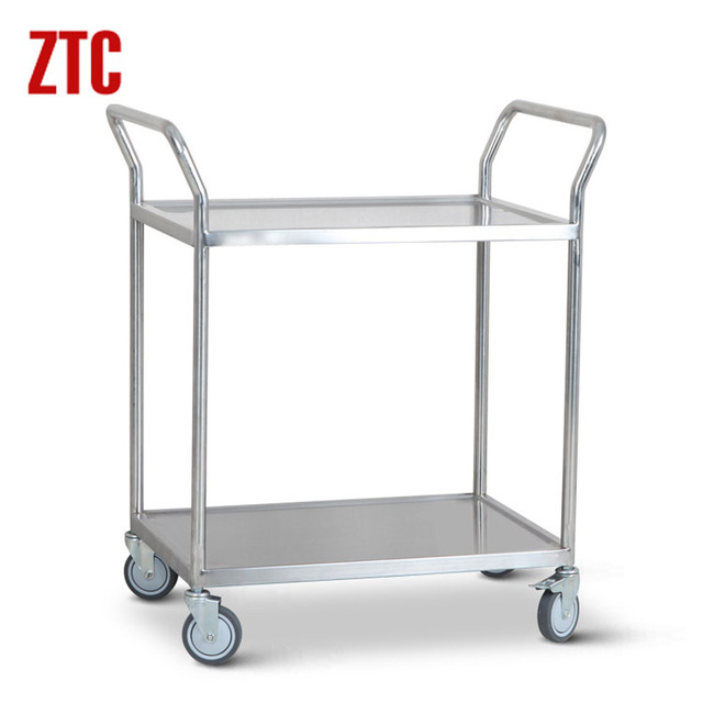 Us 1250 2 Layer Stainless Steel Cart For Labhospitalwarehouserolling Instrument Utility Trolleymetal Platform Hancart On Wheels In Laboratory