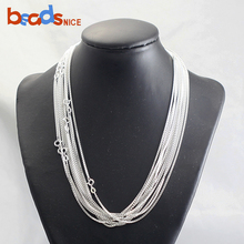 Beadsnice Sterling Silver Cable Chain Rolo Necklace Box with Spring Clasp Gift For Her 38686