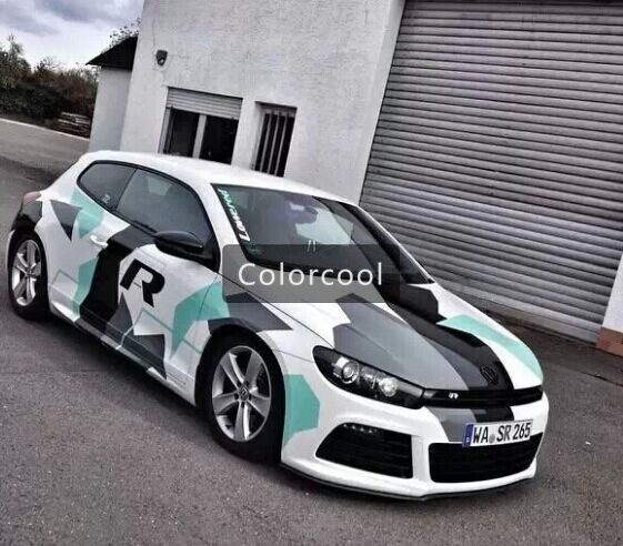 Camouflage custom car sticker bomb camo vinyl wrap car wrap with air release bomb sticker car
