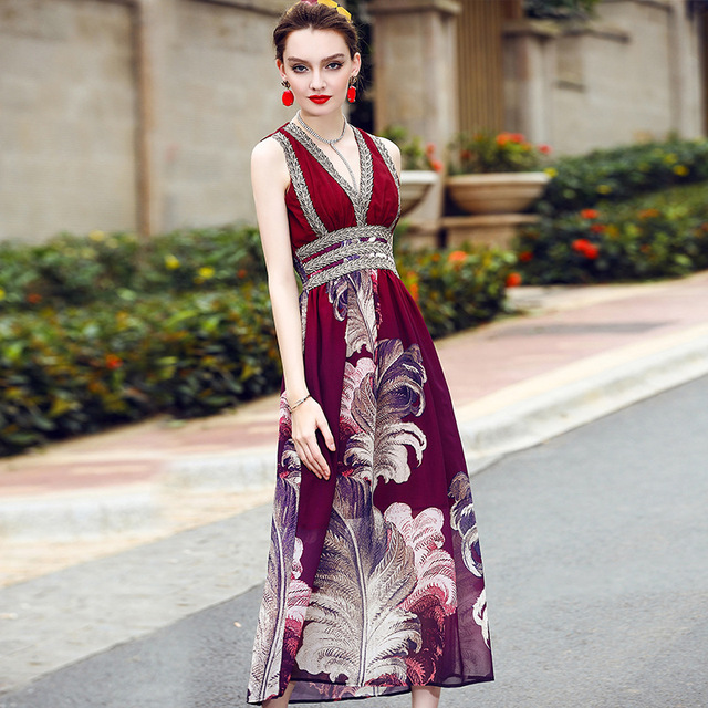 6b6a370259dc Muslim Women Maxi Dress Islamic Clothing Dubai Abaya Kaftan Summer Bohemian  Vintage Embroidery Long Dress Evening