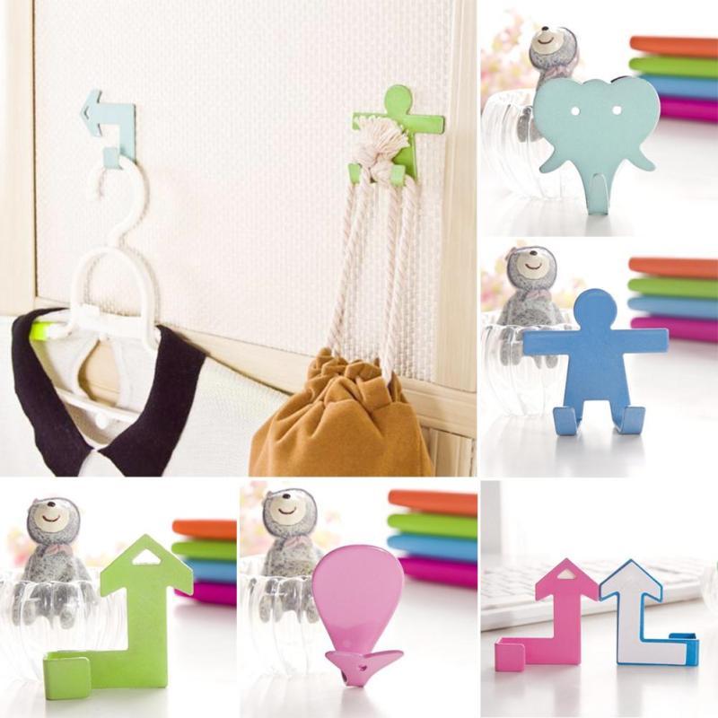 cartoon creative wall hooks viscose self adhesive family kitchen bathroom wall hanger hook elephant cloud whale
