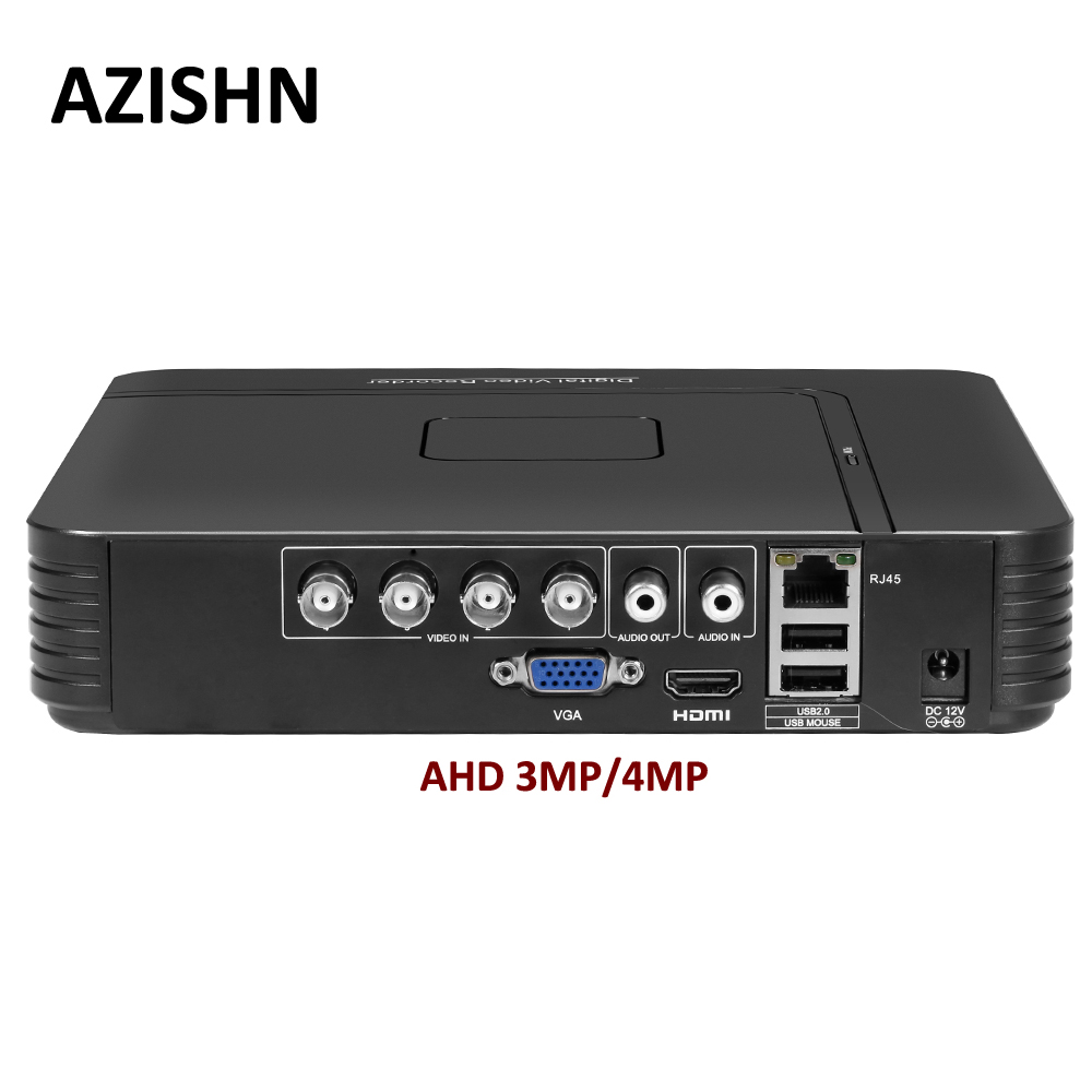 Surveillance AHD 4MP DVR 4CH 8CH H 264 Mini Hybrid 5 In 1 AHD TVI CVI