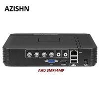 Surveillance AHD 4MP DVR 4CH/8CH H.264+ Mini Hybrid 5 In 1 AHD/TVI/CVI/CVBS/IP XMEye 3G WIFI VGA HDMI For AHD 3MP 4MP Camera