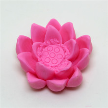 3D blooming lotus silicone mold manual soap making mould