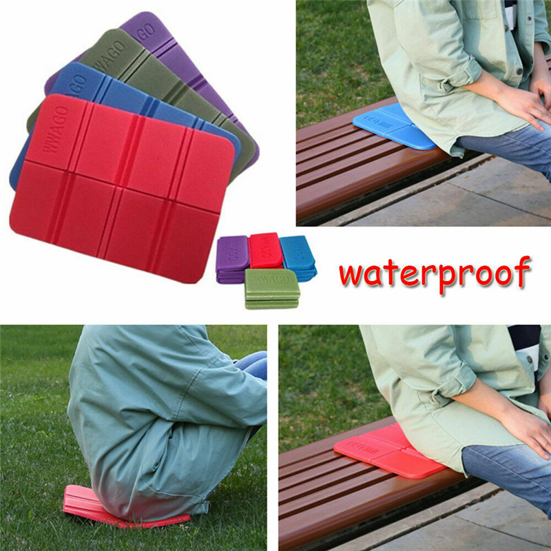 7 Colors Outdoor Indoor Folding XPE Waterproof Camping Mat Picnic Damp Proof Sitting Mat Cushion Foam Beach Mat Tourist Mat