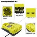 Бесплатная доставка для Ryobi P117 Сменное зарядное устройство для 12-18 в NI-CD Ni-MH литий-ионная аккумуляторная батарея для электроинструментов P108