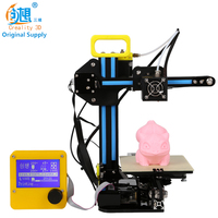 CREALITY 3D Mini Cheap 3d Color Printers CR 7 Semi finished Full Metal Kit Upgraded Mainboard Filaments Safe Gift For Kids