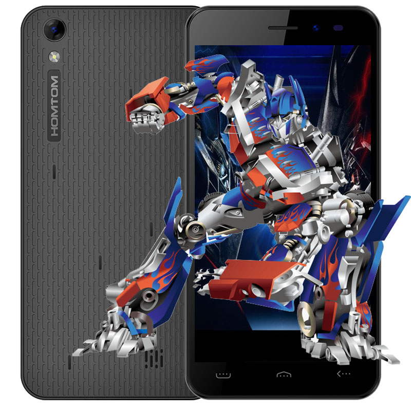 Homtom HT16 5,0 pulgadas teléfono celular Android 6,0 MTK6580 Quad Core 1,3 GHz 1 GB RAM 8 GB ROM 3G Smartphone 8MP Cámara teléfono móvil
