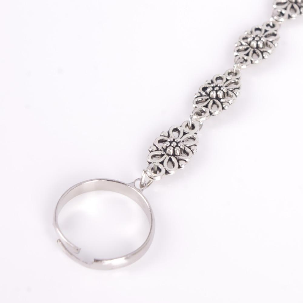 Bohemian Boho Silver Antalya Hollow Flower Salve Anklet Bracelet Foot Sandal Beach Ankle Chain