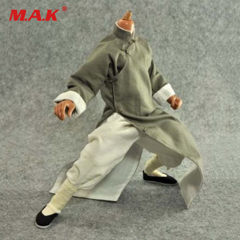 1: 6 Scale Kung Fu Suit Long Gray Costume Clothing Set For 12 Action Figure Toys Accessories1: 6 Scale Kung Fu Suit Long Gray Costume Clothing Set For 12 Action Figure Toys Accessories