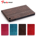 TopArmor New 2017 Luxury Crocodile Pattern Leather Case for iPad 6 for iPad Air 2 Foldable Stand Smart Cover for Ipad air 2
