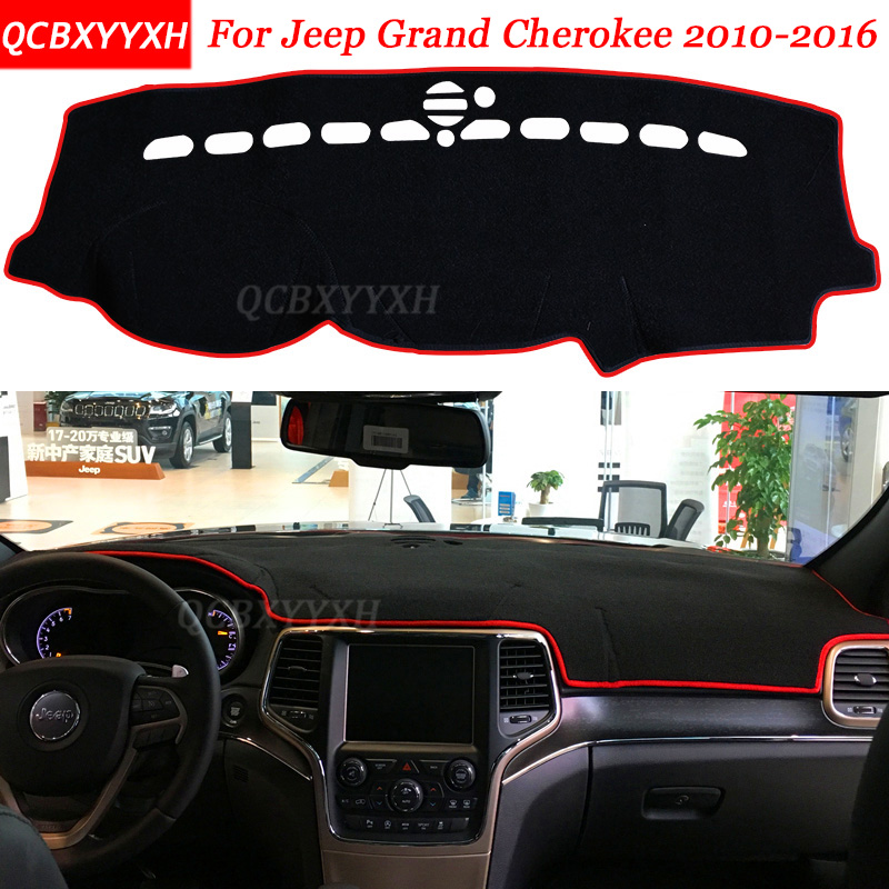 Car Styling Dashboard Avoid Light Pad Polyester For Jeep Grand Cherokee 2010-2016 Instru ...
