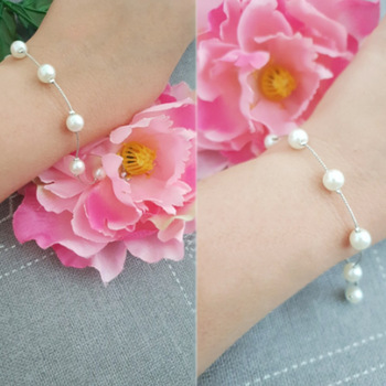 1PC Gifts Girls Adjustable Unique Allergy Free Women Pearl Beautiful Party 2018 New Arrival Exquesite Silvery Bracelet 2