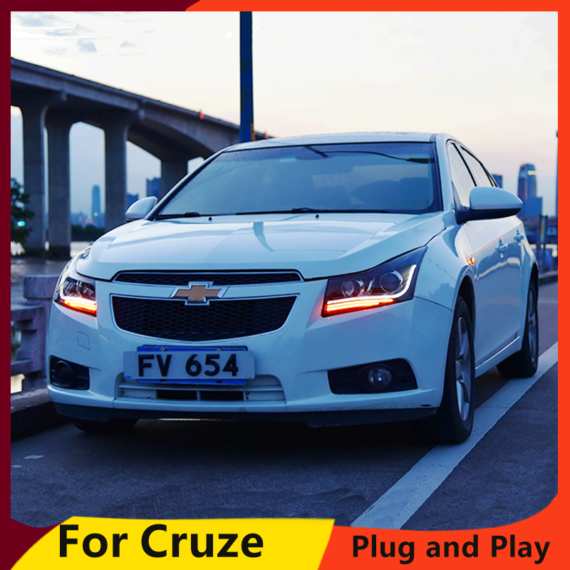 KOWELL Car Styling For Chevrolet Cruze Headlights 2009-2014 LED Headlight DRL Q5 Bi Xenon Lens High Low Beam Parking