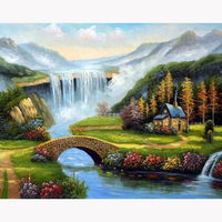 H1267 5d diamond painting full drill,5d full drill diamond paintings,diamond painting Scenic hut