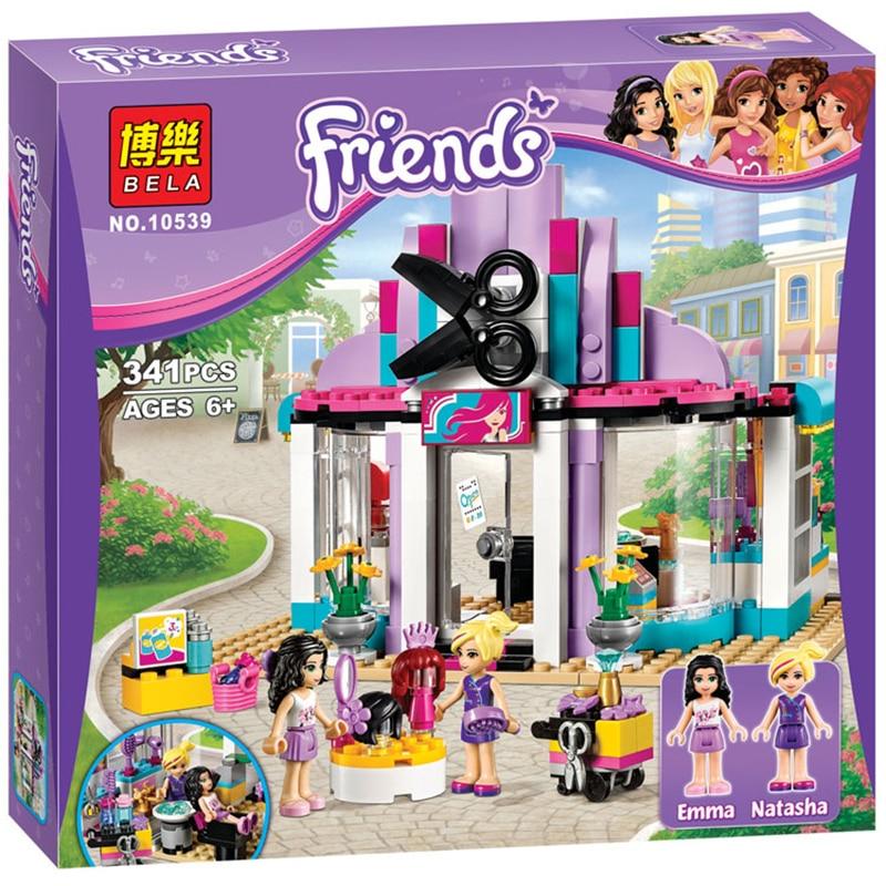 341pcs 10539 Friends Series Beauty Salon Building Block Bricks Model Toys For Children Gift Compatible With Lme  41093
